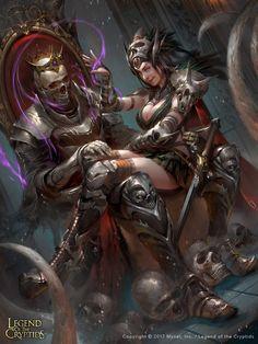 cryptids legend witch fantasy skull castle legends artstation adv setiawan dark artwork warrior mobile game
