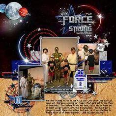 scrapbooking star wars layouts