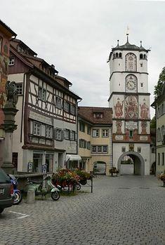 It is near Bavaria...    The Ravensburg Gate in Wangen im Allgäu, Baden-Württemberg, Germany