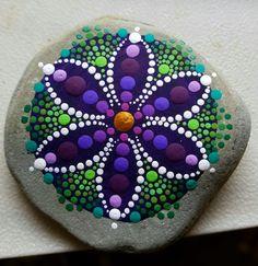 Hand painted stones by Miranda Pitrone on Etsy