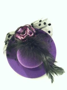 Purple  Mini Top Hat for Bachelorette party by babybaharcollection, $8.99