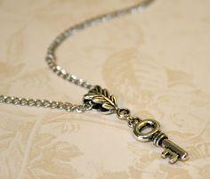 Skeleton Key necklace Tiny key necklace by CharmingLifeJewelry, $15.00