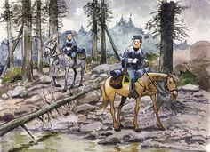 Les Tuniques Bleues - Blutch & Cornelius Chesterfield    Art by Willy Lambillotte