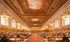 Reading Room of New York Public Library by sunj99