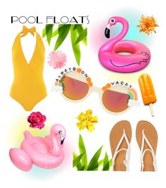 """""""Pool floats"""" by janicevc on Polyvore featuring interior, interiors, interior design, home, home decor, interior decorating, Rad+Refined, Lazul, Aéropostale and Disney"""