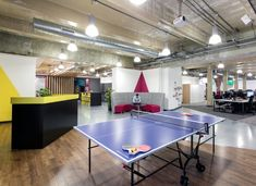 Bristol | Fun workplace | Gresham | Interaction offices | Breakout area | Cool offices in Bristol | Ping pong office design