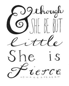 Shakespeare Quote Little Girl Quote Baby Girl by heytheredesign