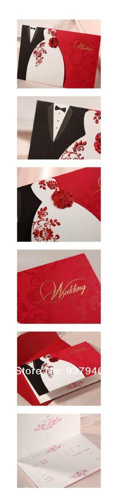 Envío gratis personalizada invitaciones de boda creativo papel alta calidad tarjeta de invitación de boda con el sobre / WD22 en Artículos de Fiesta de Casa y Jardín en AliExpress.com | Alibaba Group