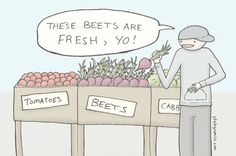 A new sticky comic from the farmers' market :)
