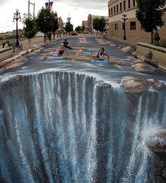 3D sidewalk chalking -/
