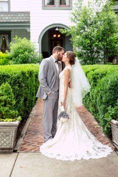 A Southern Fairytale... #StreetTuxedo #NashvilleRealWeddings Grey Tuxedo, Tuxedos, Formal Wear, Nashville, Fairytale, Real Weddings, Heather Grey, Southern, Menswear