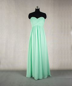 Long MInt Bridesmaid Dress A-line Sweetheart by StarCustomDress