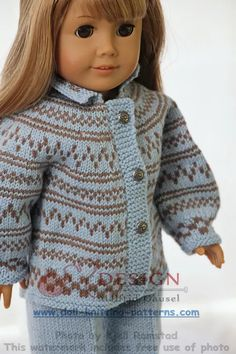 american girl doll sweater knitting pattern