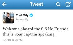"""This is your captain speaking."" Hahahahaha"