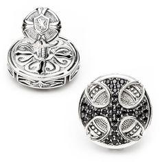 Scott Kay Black Sapphire Round Maltese Cross Cufflinks