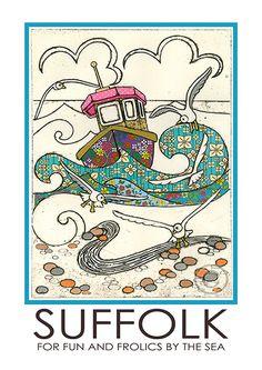Suffolk Travel Poster