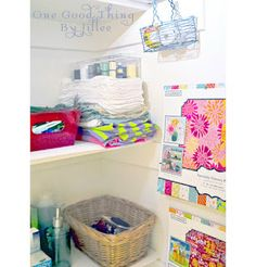 No Space For A Craft Room? Create A Project Closet! | One Good Thing by Jillee