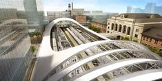Rendering of the rail terminal for Denver's Union Station redevelopment