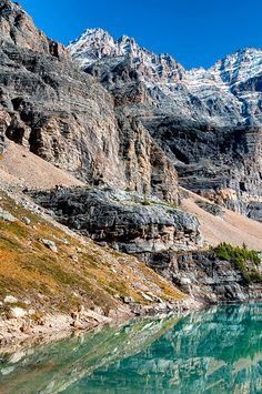 Opabin Lake near Lake O'Hara in Yoho National Park, British Columbia, Canada