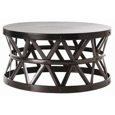 Hammered Drum Cross Dark Bronze Coffee Table | Overstock.com Shopping - Great Deals on Horizon Coffee, Sofa & End Tables
