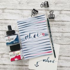 aHoi - Handlettering mit Davinci Pinsel und Ecoline Wasserfarbe Ps, Giveaway, Fashion Photography, Told You So, Instagram Posts, Coming Soon, Tuesday, Left Out, Brushes