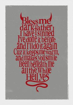 Art Alkaline Trio words-typography