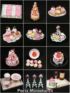 Paris Miniatures: Pink Pastries, Petals, Pyramids, Plates...and more