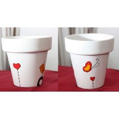 New painting flower pots ideas candle holders ideas Clay Pot Projects, Clay Pot Crafts, Painted Clay Pots, Painted Flower Pots, Painting Glass Jars, Stone Painting, Clay Pot People, Mosaic Pots, Flower Pot Crafts