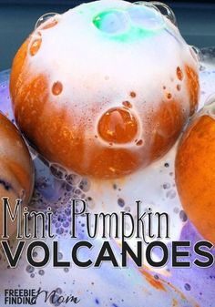 Want a fun and educational fall inspired project to do with the kids? These mini pumpkin volcanoes are guaranteed to impress. If your kids are older, they will understand the chemical reaction taking place in this fall science experiment, but this could also be a great fall preschool project as well. What kid wouldn't love to see mini pumpkins erupt?