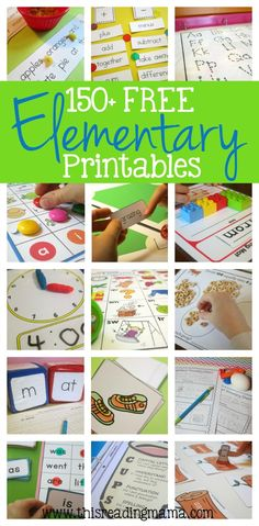150+ FREE Elementary Printables {K-5} - WOW! | This Reading Mama