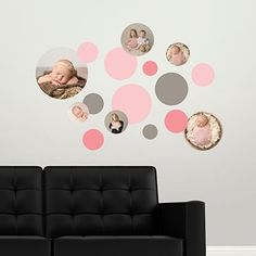 Fun circles make super cute wall decals! These look great in kids rooms or nurseries. You can gift them for friends, too! #peartree #homedecor #giftideas