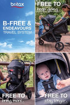 A safety system designed to protect beyond government standards, the B-Free Stroller and Endeavours Infant Car Seat is full of advanced designs to make travelling a breeze. With 7 individual storage compartments, as well as an oversized basket, an expandable canopy, durable foam filled rubber tires, and an ergonomic carry handle, you and your baby are ready to ride!