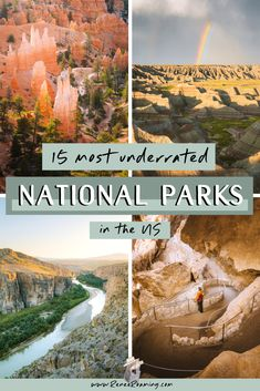 Find out the 15 most underrated National Parks in America, from someone who has firsthand traveled to all of them! These parks are a must see! Us Travel Destinations, Places To Travel, Places To Visit, Chobe National Park, National Parks Usa, American National Parks, Us Road Trip, Vacation Trips, Vacation Ideas