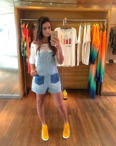 Use this code for off: Check out on MarbleArtCo Boutique Decor, Boutique Clothing, Summer Chic, Women's Summer Fashion, Fashion Outfits, Womens Fashion, Overall Shorts, Casual Looks, Ideias Fashion