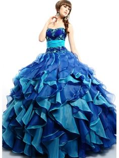 Fancy Blue Prom Dresses - Missy Dress