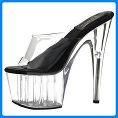 Plateau Pantoletten Schwarz, EU 41 for sale Clogs, Partner, Sandals, Heels, Link, Fashion, Self, Women's, Black