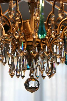 ❥ chandelier crystals~ love the refractive colors in real crystals..