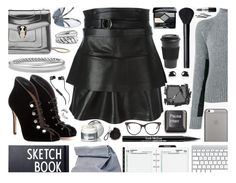 """Trending: Leather Skirts"" by sharmarie ❤ liked on Polyvore featuring Haider Ackermann, Gianvito Rossi, David Yurman, STELLA McCARTNEY, Surratt, La Prairie, Native Union, NARS Cosmetics, Christian Dior and MAC Cosmetics"