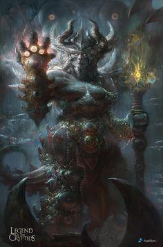 Vargas regular-applibot Dark Fantasy Art, High Fantasy, Ange Demon, Demon Art, Fantasy Creatures, Mythical Creatures, Fantasy Character Design, Character Art, Fantasy Races
