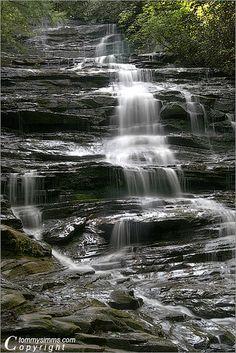 Minnehaha Falls located near Lake Rabun, in the north Georgia mountains, Georgia By Tommy Simms
