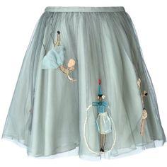green tulle skirt | Tumblr
