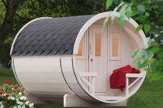 Gartensauna Wolff Saunafass 280 Sauna-Haus, Aussensauna Fasssauna aus Holz - Erfüllen Sie sich ihren Traum von der extravaganten Sauna im Garteb