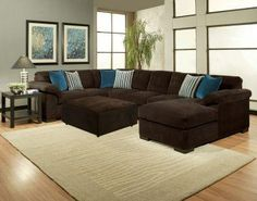 Blue Accent Pillows For Brown Leather Sectional Couch