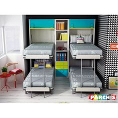 """Check out our web site for more info on """"murphy bed ideas space saving"""". It is a superb place to learn more. Cama Murphy, Murphy Bunk Beds, Murphy Bed Desk, Modern Murphy Beds, Murphy Bed Plans, One Room Flat, Murphy-bett Ikea, Entertainment Center Decor, Space Saving Furniture"""
