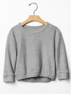 Metallic dot sweatshirt