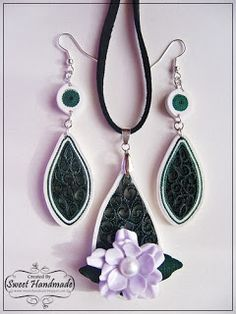 Quilling Jewelry set