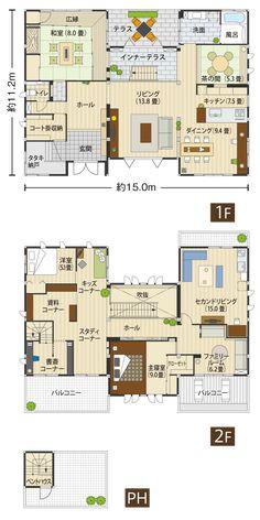 リユースハイム|セキスイハイム近畿株式会社 Floor Layout, Sims House, Japanese House, House Layouts, House Plans, Floor Plans, Exterior, Flooring, How To Plan