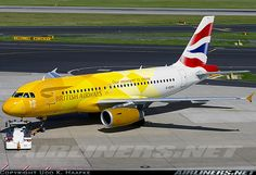 The gorgeous @BritishAirways Airbus A319-131 with Olympic flame livery