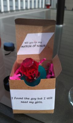 Will you be my maid of honor? too cute