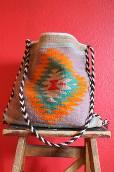 vtg wool MEXICAN summer shoulder bag UNISEX by Taite on Etsy, $15.00